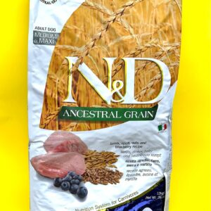 N&D ANCESTRAL GRAIN – Agnello, farro, avena & mirtillo
