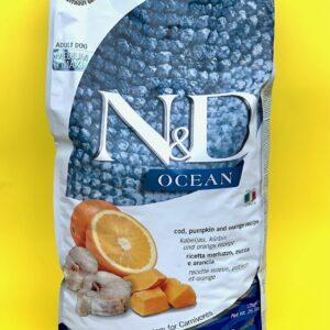 GLUTEN FREE – N&D OCEAN ADULT – Merluzzo, zucca & arancia