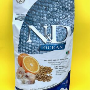 N&D OCEAN – Merluzzo, farro, avena e arancia