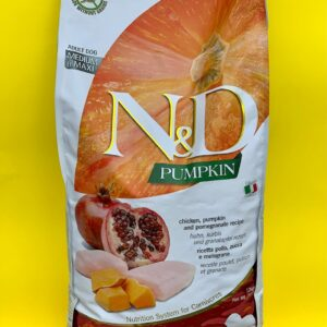 GLUTEN FREE – N&D PUMPKINS ADULT – Pollo, zucca & melograno