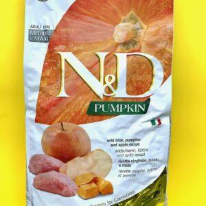 GLUTEN FREE – N&D PUMPKINS ADULT – Cinghiale, zucca & mela